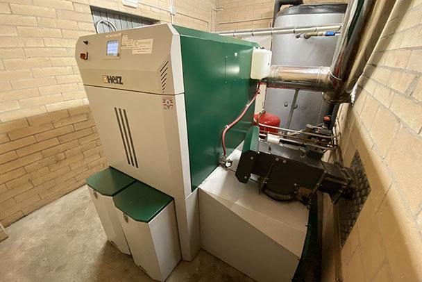Caldera de biomasa.