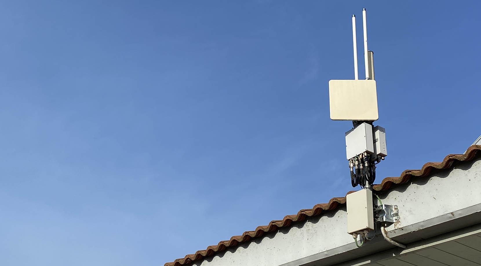 31 Antennen sind im gesamten Komplex verteilt, damit Sie die Verbindung nicht verlieren.